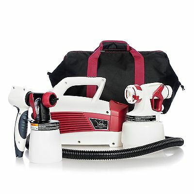 Nicole Curtis Home 1.5 qt HVLP Paint Spray System & Carry Case - 455-515 - Red