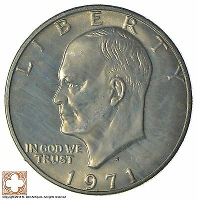 Silver - SPECIALLY MINTED - S Mint Mark - 40% Eisenhower Dollar - RARE *256
