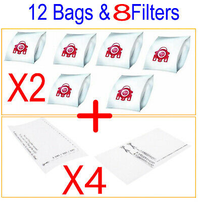 12X VACUUM CLEANER BAGs For MIELE FJM Red 3D COMPACT C1 C2 S4 S6 S290 S381 S6210