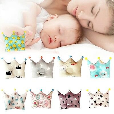 Baby Infant Positioner Anti Roll Sleep Washable Pillow Newborn Prevent Flat Head