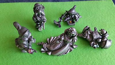 Vintage Disney Snow White Pewter Figurine with Crystals – Lot of Qty 5.