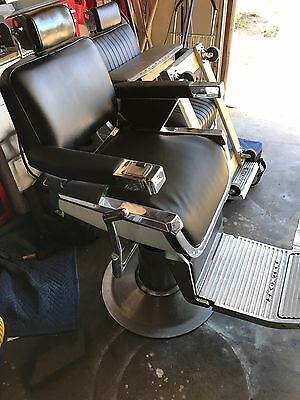 Antique Belmont Barber Chair works perfectly for barber shop 1950's