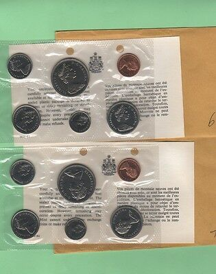 Lot of 2 Canadian PL mint sets 1969, 1970 with envelopes