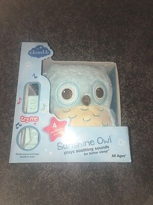 Cloud b 7462- Sunshine Owl Plush Soothing Sounds NEW in box