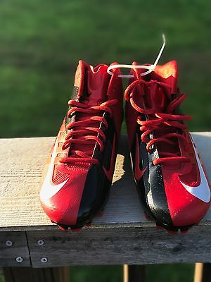 New Nike Vapor Pro football cleats RED White Black size 9