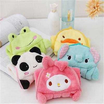Soft Plush Cute Cartoon Animal Hanging Wipe Bathing Baby Kids Nursery Hand Towel