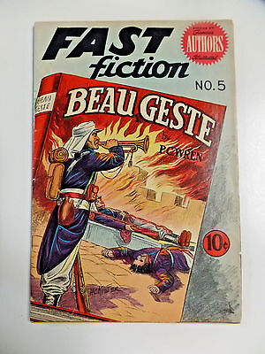 Fast Fiction # 5 Beau Geste Stories By Famous Authors Illustrated Comic Book VG+