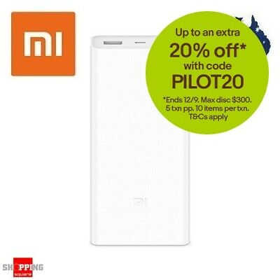 Genuine Xiaomi 20000mAh Polymer Power Bank Charger Rechargeable PowerBank