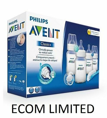 Avent Newborn Bottle Kit PBA Free SCD371 Starter Set Classic + Philips