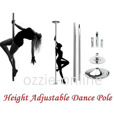 Metal Stripper Pole Portable Dance Pole Dancing Kit Height Adjustable Fitness