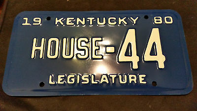 1980 Kentucky House Of Representatives House-44 License Plate