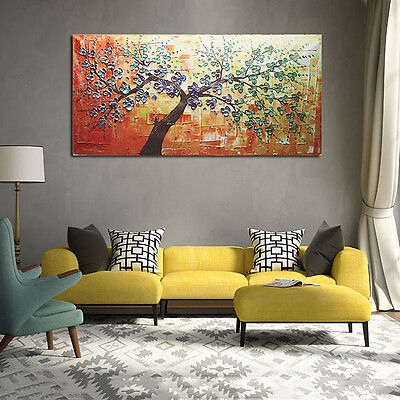 Modern Abstract Hand Print Painting Wall Decor adorn Tree on canvas NO frame