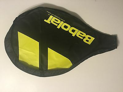 NEW Babolat Standard Tennis Racquet Cover Yellow & Black COVER ONLY sz 11x18