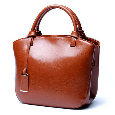 Women Genuine Leather Tote Handbag Crossbody Bag Shoulder Bag Soft Cowhide