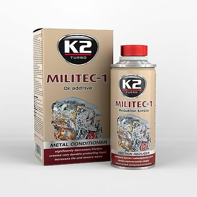 K2 PRO Militec 1 Oil Additive Metal Conditioner Engine Gear Box Revitaliser
