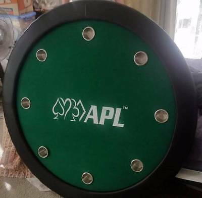 """52"""" APL Poker Table with dust cover & stainless steel cup holders"""