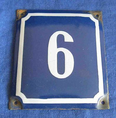 Russian blue/white house gate number awesome 9 / 6 porcelain enamel solid plaque