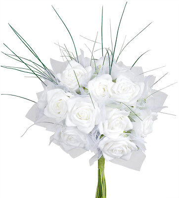 Bouquet 18 roses blanches