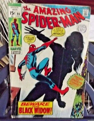 Marvel Comics Group Present The Amazing Spider-Man Vol 1 #86 July 1970
