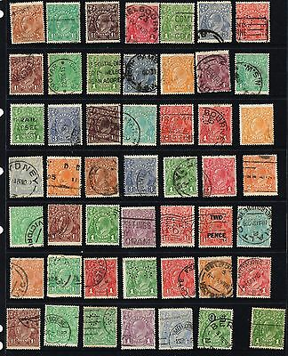 Australia ,SELECTION OF KGV    all  USED OVER 50  STAMPS