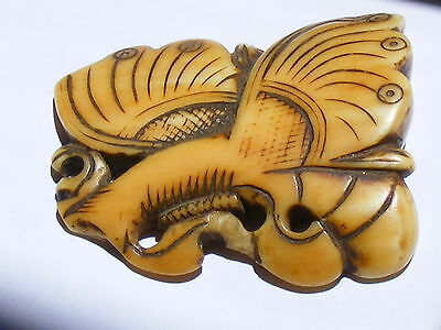 Antique Chinese Carved Butterfly Form Ornament String 18TH