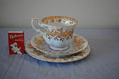 Royal Albert Trio - Blue with Gold Gilt Floral (Un-named)