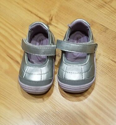 Stride Rite Surprise Ashby Size 4 Athletic Mary Jane Toddler Girl Gray Silver