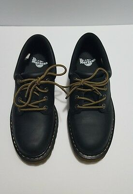 DOC DR MARTENS AirWair Graceland Black Leather Wyoming Oxford Work Shoes Men 9