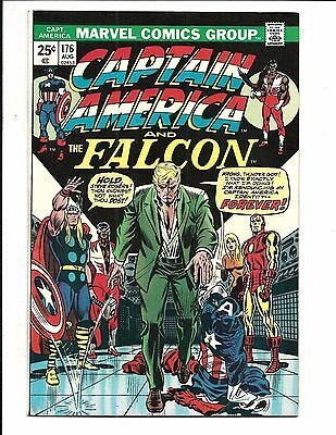 CAPTAIN AMERICA # 176 (END OF CAPT. AVENGERS app. CENTS ISSUE, AUG 1974), FN+