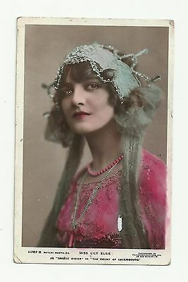 RARE antique Rotary Photo Postcard 11787 B. Lily Elsie as Angele Didier. Theatre