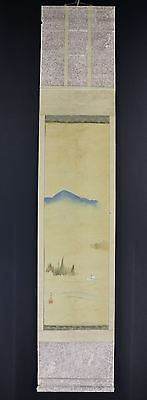JAPANESE HANGING SCROLL ART Painting Scenery Asian antique  #E6503