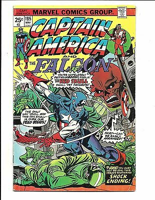 CAPTAIN AMERICA # 185 (RED SKULL app. CENTS ISSUE, MAY 1975), VG/FN