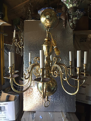 8 Arm Heavy Solid Brass Williams Burg look Chandelier