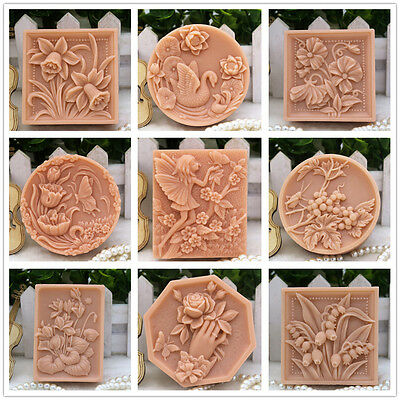 Silicone Soap Mold Craft Bird Flower Soap Making Mould DIY Candle Handmade Mold