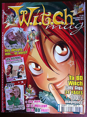 WITCH Mag n°196s du 12/2011; Marie Lune/ Lady Giga 34 pages BD 100% magique