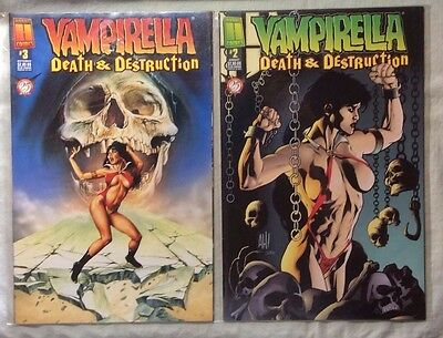 Mixed Lot of 2 Comics: Vampirella Death & Destruction #2 & #3
