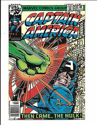 Captain America # 230 (Battles Hulk, Cents Issue, Feb 1979), Vf+
