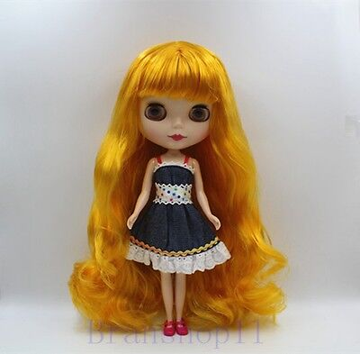 "12/"" Neo Blythe Doll Copper Red Hair Matte Face Nude Doll from Factory JSW101001"