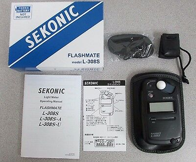 Sekonic Flashmate L-308S Flash mate Light Meter - 3 Years USA Warranty (401-309)