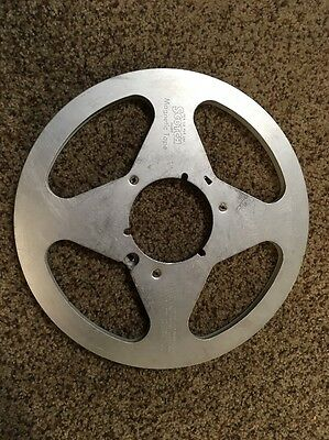 """SCOTCH TAKE UP REEL 10.5"""" Silver Metal Reel For 1/4"""" Audio Recording Tape"""