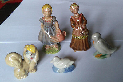 WADE Figures/Whimsies X 5 Nursery Favourites, Disney & Birds