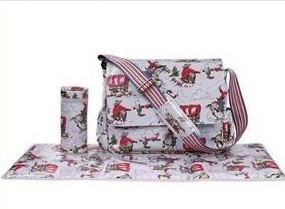 Cath Kidston Cowboys Nappy Changing Bag With Mat & Bottle Warmer Holder