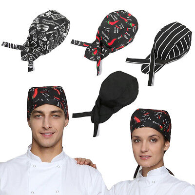 Unisex Men Women Kitchen Baker Cook Chef Elastic Caps Hats Catering US Location