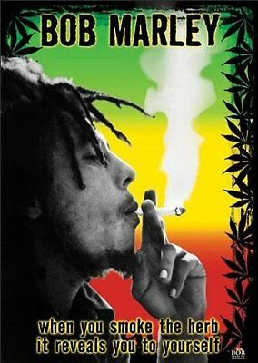BOB MARLEY - SMOKE THE HERB - POSTER 24x36 - WEED MARIJUANA 49144