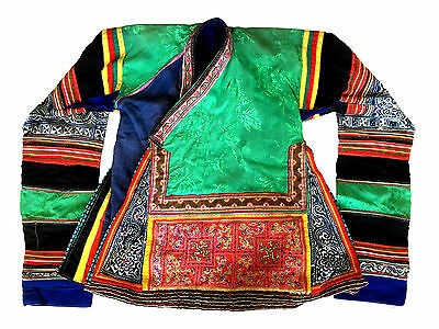 CHINESE Embroidery Textile Maio Ge Jia Ethnic Batik Childs Robe Jacket