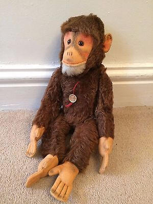 OLD HERMANN CHIMPANZEE MONKEY 1960S WITH Original small tag FULLY JOINTED