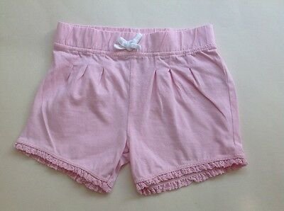 baby girl pink pull-on shorts 12-18 months