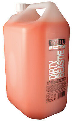 Wahl Showman Dirty Beastie Shampoo 500ml or 5 litre Horses Dogs Cattle etc