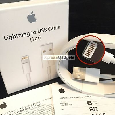 100X OEM Original Apple iPhone 7 7S 6 6S Plus 5C Lightning USB Cable Charger