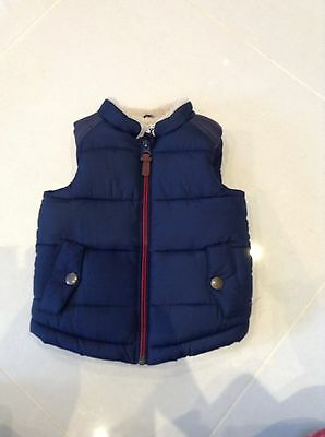 Next 6-9 Months Navy Padded Gilet . Immaculate Condition